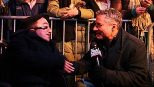 656 Fox News interview in Times Square