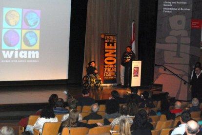 658 Screening my film at the One World Film Festival in Ottawa