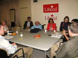 675 Rebuilding roundtables _ (square tables) Great to see MPP Yasir Naqvi and Liberal National Presid