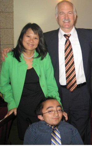 Mitch and NDP Leader Jack layton and his wife