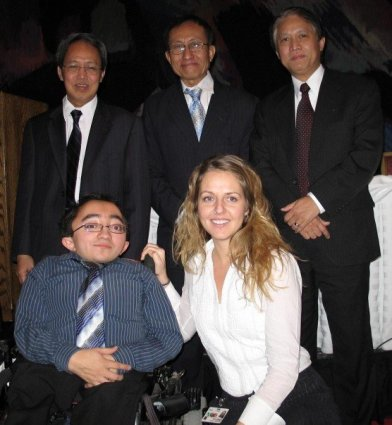 Mitch, Melissa and the exiled Prime Minister of Burma, Dr. Sein Win. (Left)