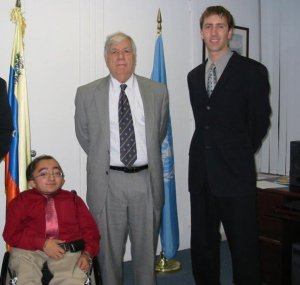 Mitch & Skot with Venezuelan Ambassador to the United Nations Fermin Toro Jimenez.