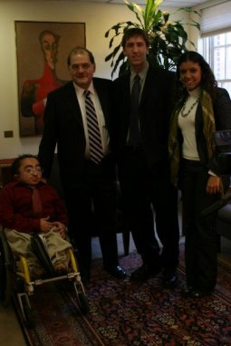 Mitch St.Pierre and Skot Sanderson with Venezuelan Ambassador in Washington DC, Bernardo Alvarez.