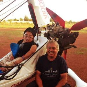 Mitch St.Pierre with Eddie Smith at Microlight Cambodia